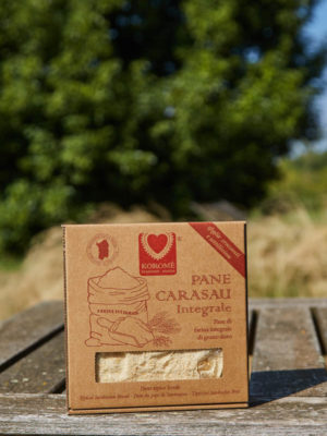PANE CARASAU INTEGRALE - SCATOLA CARTONE 250 GR