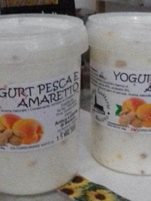 YOGURT PESCA E AMARETTO - 500 G